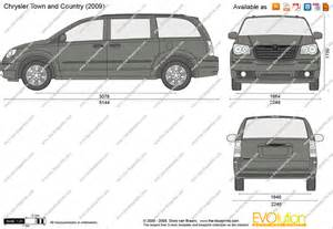 Chrysler Town And Country Cargo Dimensions The Blueprints Vector Drawing Chrysler Town And