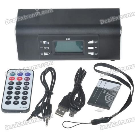 Usb Mmc Radio Portable Speaker Ws 758 buy 1 8 quot lcd portable mp3 speaker with fm radio usb sd mmc slot remote controller black