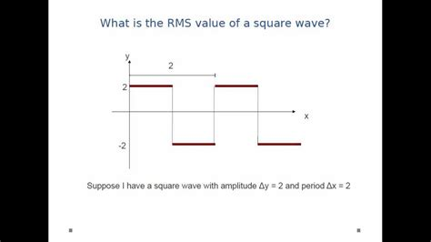 what is the value of current in a resistor 2 and b resistor 3 ac circuits rms value of square wave