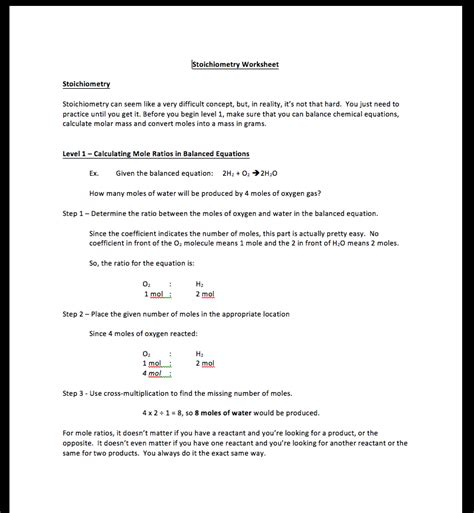 Stoichiometry Worksheet by Mole To Mole Stoichiometry Worksheet Answers Worksheets