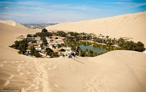 desert oasis the mystical oasis town huacachina that exists in the