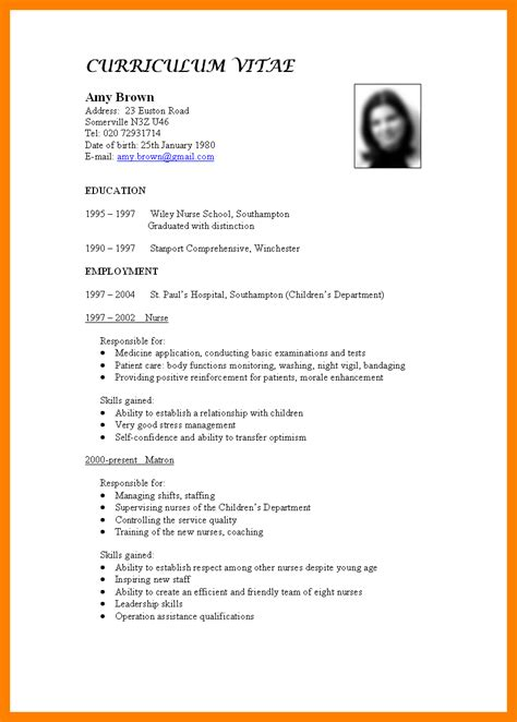 cv for 28 images cv exle for graduate students myperfectcv 10 simple cv format for hvac