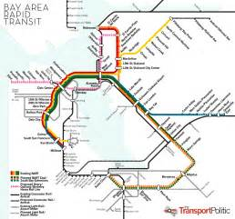 Bay Area Bart Map by Crossing The Bay Again But Not Necessarily With Bart