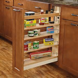 Kitchen Cabinet Organizers Pull Out Shelves Rev A Shelf Wood Pull Out Organizers With Soft Slides For Kitchen Base Cabinet
