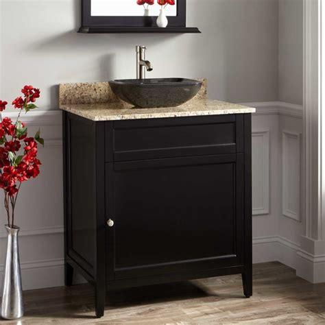 30 Vanity Cabinet And Sink 30 Quot Caitlyn Vessel Sink Vanity Black Traditional