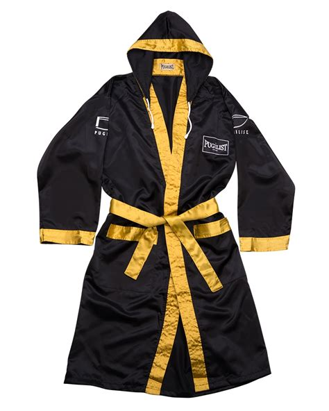 pugilista boxing robe black goldadult