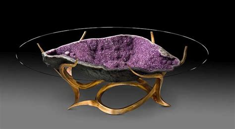 amethyst geode coffee table beautifully designed geode tables by stoller