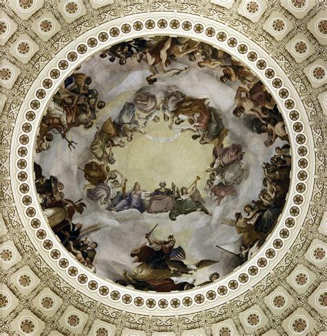 Us Ceiling by Apotheosis Of Washington U S Capitol Rotunda