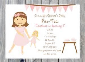 personalized doll tea invitations