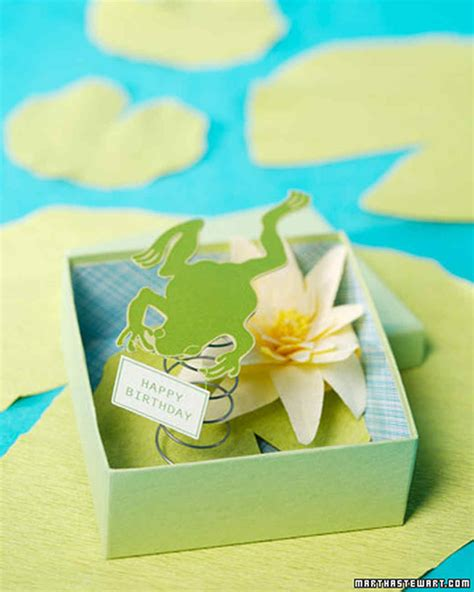 frog pop up card template frog in a box card martha stewart