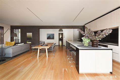 Terrasse Beton Imitation Bois 1301 by 2013现代风格狭长小户型厨房客厅一体装修效果图 设计本装修效果图