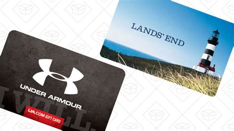 Under Armour Gift Card - choose between these discounted lands end and under armour gift cards