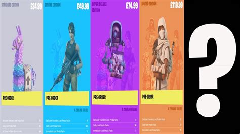 fortnite editions fortnite ultimate edition pre order options and