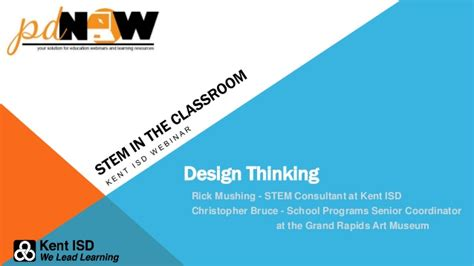design thinking slideshare stem in the classroom design thinking