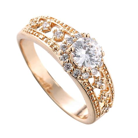 Golden Ring New Design by Anillos Mujer Wedding Rings Engagement Anel Feminino