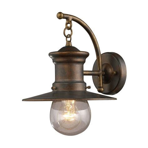 Outdoor Wall Sconce Lighting Fixtures Outdoor Wall Mounted Lighting Outdoor Lighting The Home Depot