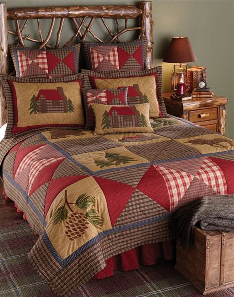 Cabin Bed Sets Cabin Quilt Blackmountainquilts Net Quilted Bedding Home Decor Blackmountainquilts Net