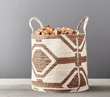 justina blakeney geo storage basket   pottery barn kids