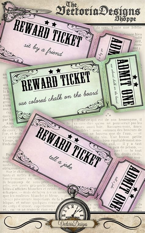 printable incentive tickets printable reward tickets for teachers elementary school back