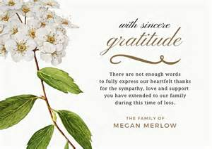 bereavement thank you notes lovely wording exles