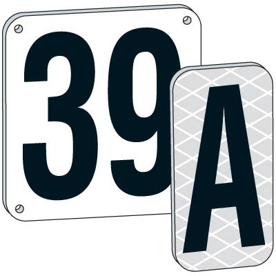 4 Letter Words Number Plates 4 quot white aluminum number and letter plates emedco