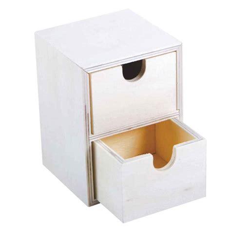 mini commode bois mini commode en bois 2 tiroirs a d 233 corer n c vente d