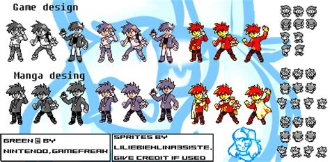 Adventure Black Moving Blue pokemonspecial sprites green by liliebiehlina3siste on