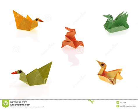 Tiny Origami - tiny origami stock photo image of bird folded