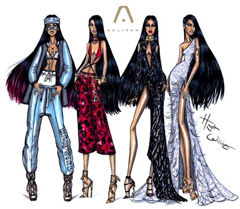 Gothic Style Home by Hayden Williams Fashion Illustrations Aaliyah 2016 By