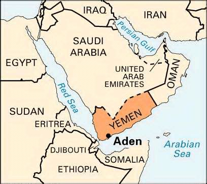 middle east map gulf of aden an average american patriot yemen and the gulf of aden