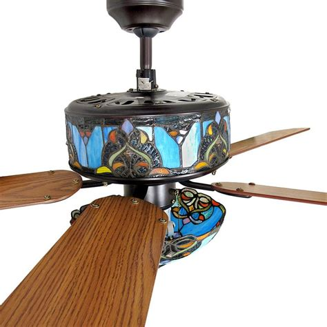 ceiling fan with stained glass light pin by very cool finds on stained glass ceiling fan
