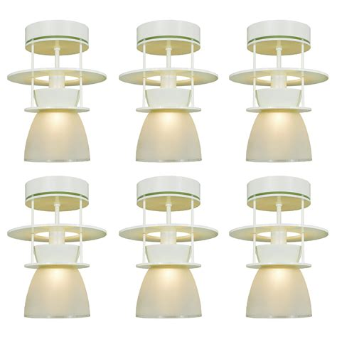 mid century modern flush mount lighting set of six atomic midcentury modern ceiling lights semi
