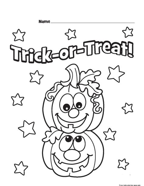 halloween coloring pages trick or treat trick or treat preschool coloring coloring pages