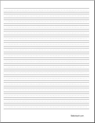 printable lined paper for beginners writing paper blank 36 pt portrait elem abcteach