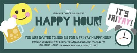 Happy Hour Free Online Invitations Happy Hour Invite Template