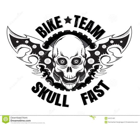 Camo Wall Stickers skull bike stock vector illustration of race motorbike