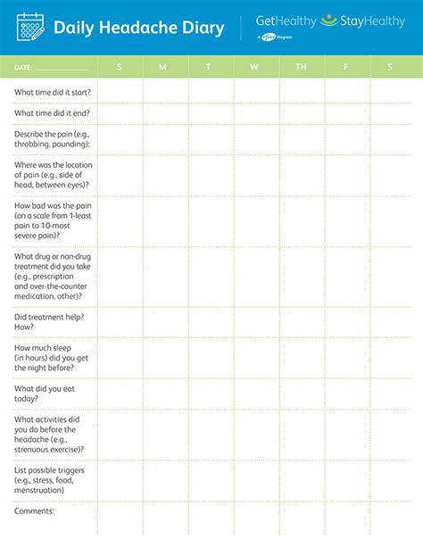 Similiar Pain Diary Sheet Keywords