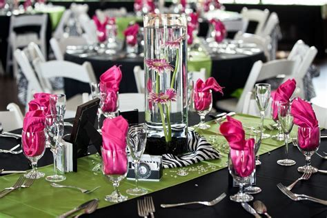 Zebra Print Wedding Decorations     decorated with black