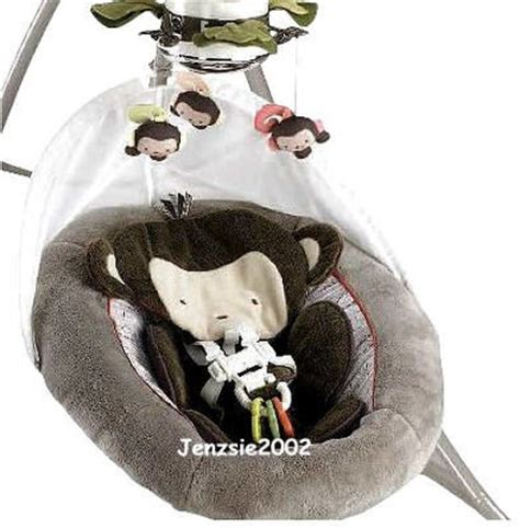 monkey infant swing fisher price baby monkey swing my little snugamonkey