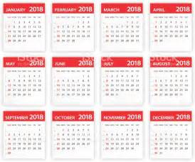 Ukraine Calendario 2018 2018 Calendar Leaves Illustration Stock Vector