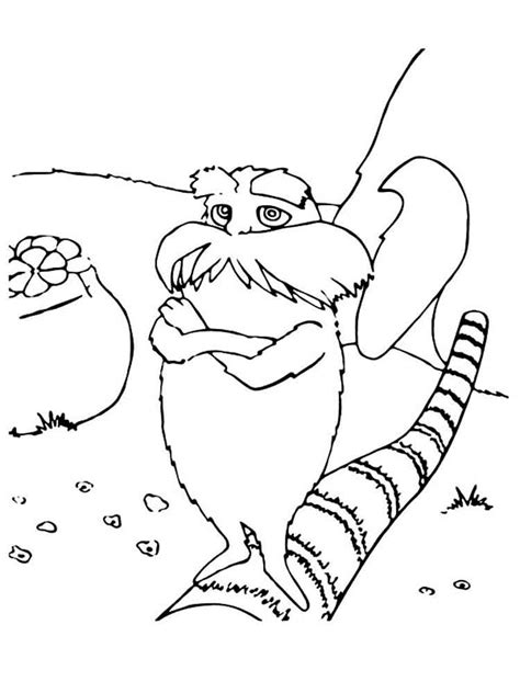 lorax coloring pages  printable lorax coloring pages
