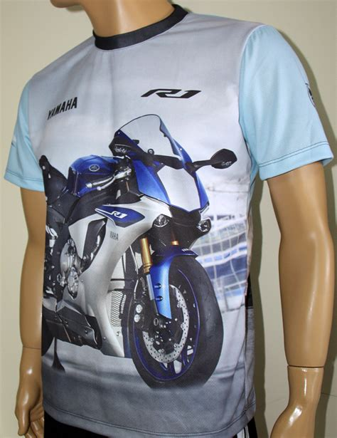 Tshort Yamaha R1 Racing yamaha r1 t shirt with logo and all printed picture