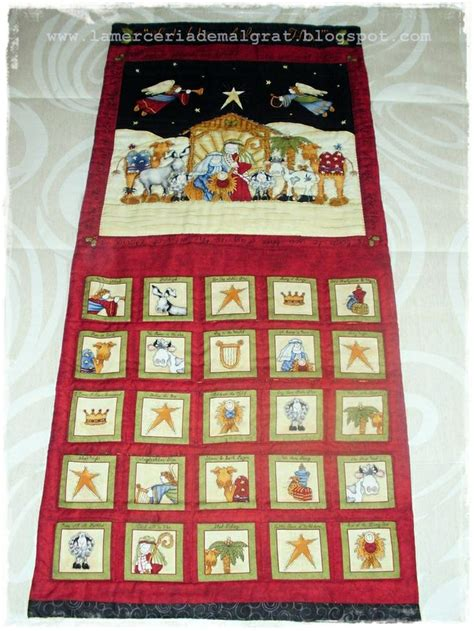 Patchwork Advent Calendar Pattern - calendario de adviento patchwork labores de navidad