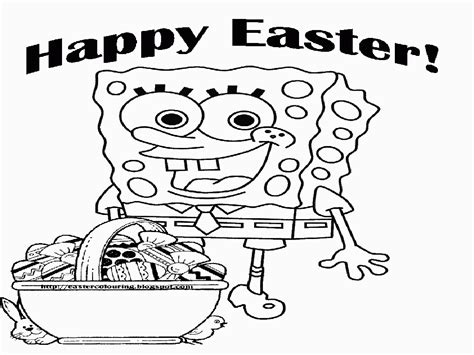 free printable sponge bob easter coloring pages az