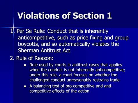 sherman act section 1 ppt antitrust law powerpoint presentation id 4448834