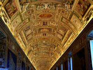 dot s photo ceiling on way to sistine chapel