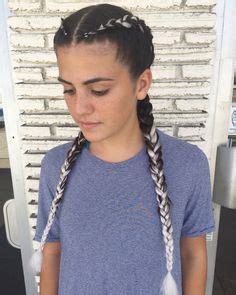 two dutch braids | feed in braids | braids with extensions