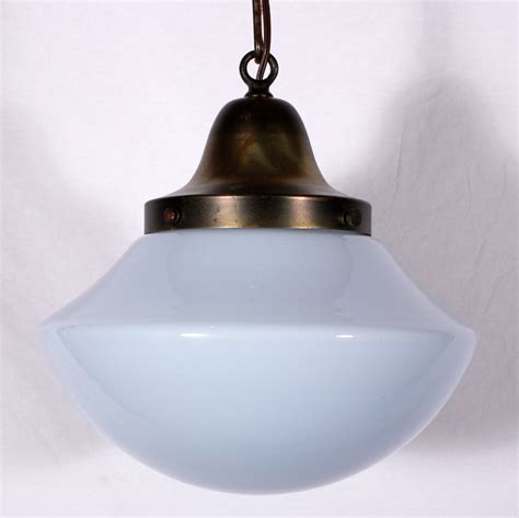 milk glass pendant light unusual antique schoolhouse pendant light with blue tinted