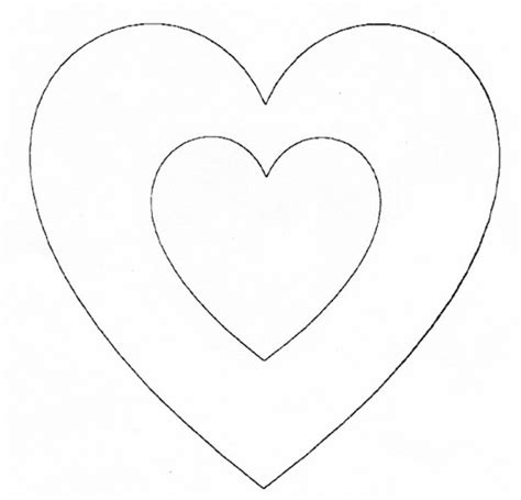 pattern for heart applique free heart pattern to print