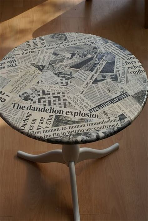 Decoupage Newspaper - upcycling the into the waste wise